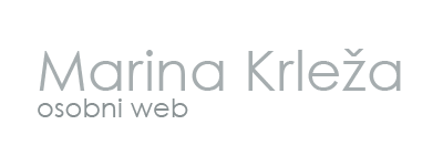 Marina Krleža – Osobni web Logo